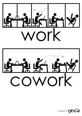 Work vs. #Coworking Designed by Gradosei