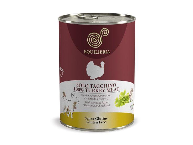 Konzervy Equlibria 100% masa – jehně , králík , kachna , zvěřina , krůta , telecí vyrobeno v Itálii naše cena:400g pouze 49,-Kč