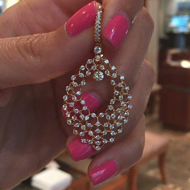 Daimond earrings by Di.Go #Bjc #Bahrain