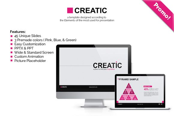 Check out Creatic - Powerpoint Template by Inspirasign on Creative Market