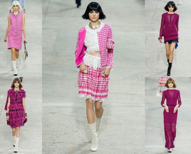 Chanel Primavera-Verano 2014: House, Con Tejidos