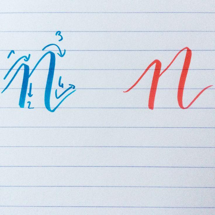 Après le M, apprendre à tracer le N est très facile ! #backtobasics_abc