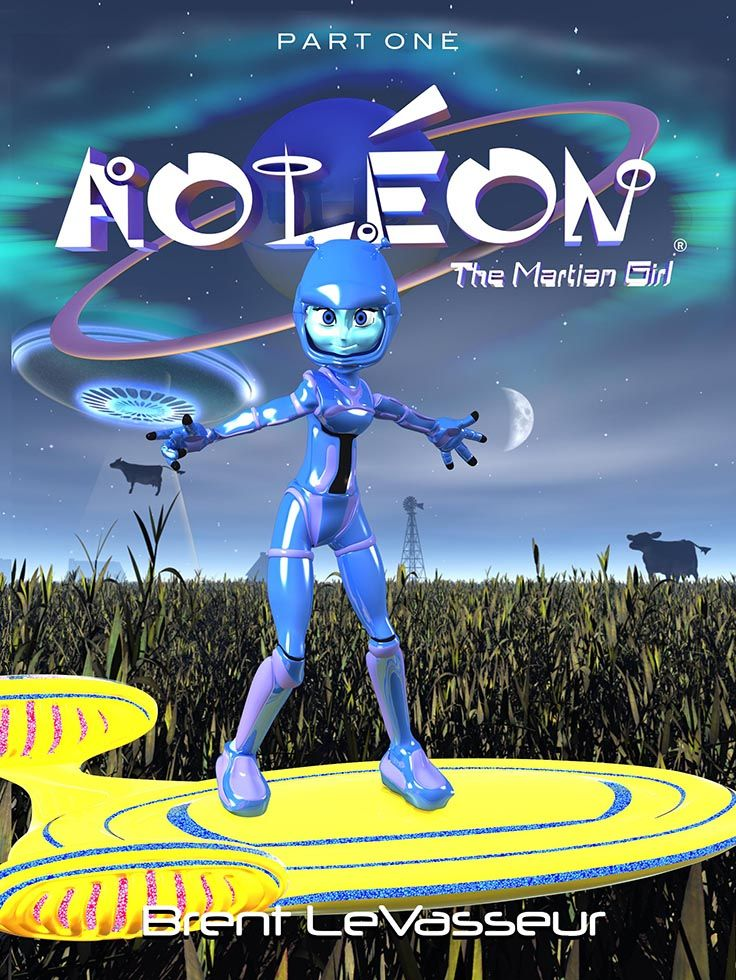 #ScienceFiction and #Fantasy #book Aoleon The Martian Girl Part 1 First Contact. Join Aoleon and Gilbert and be whisked away on an adventure to Mars you won't forget!