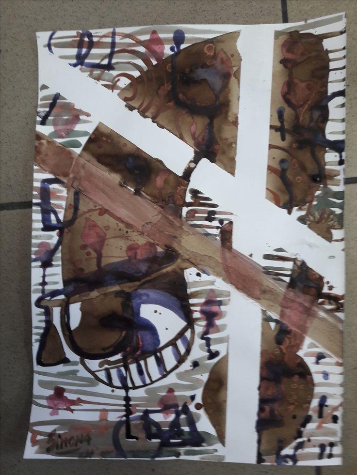 by Layla Simona, post modernism art abstrac . kaito kid logo