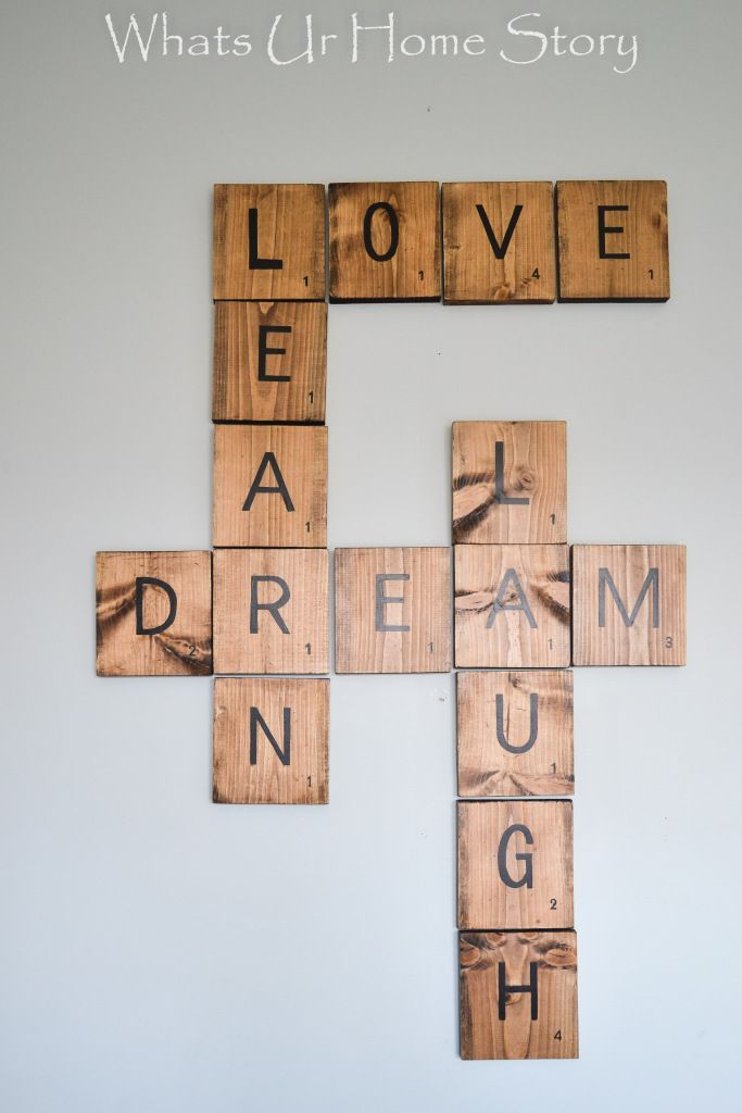Best 20 scrabble tile crafts ideas on pinterest for Homemade wall letters