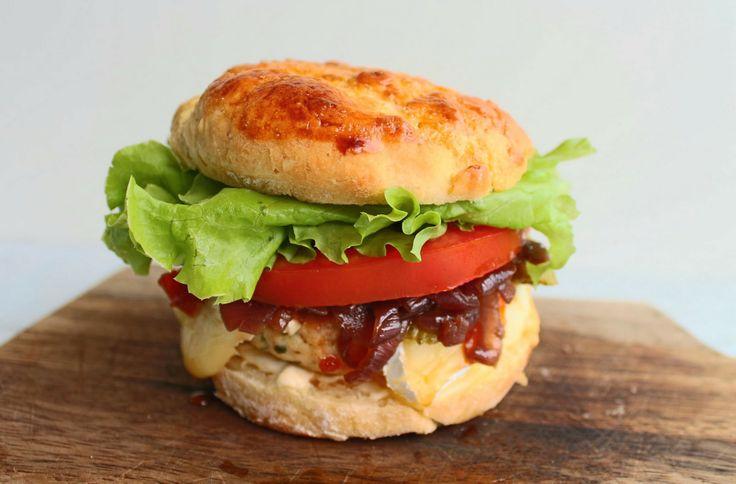 cheeseburger de frango perfeito (sem gl�ten)