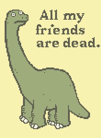 All My Friends are Dead cross-stitch