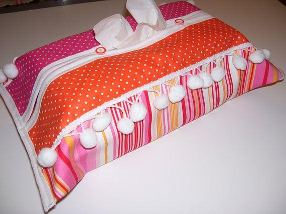 TISSUE BOX COVERS  pompom tissue box covers  pompom tissue