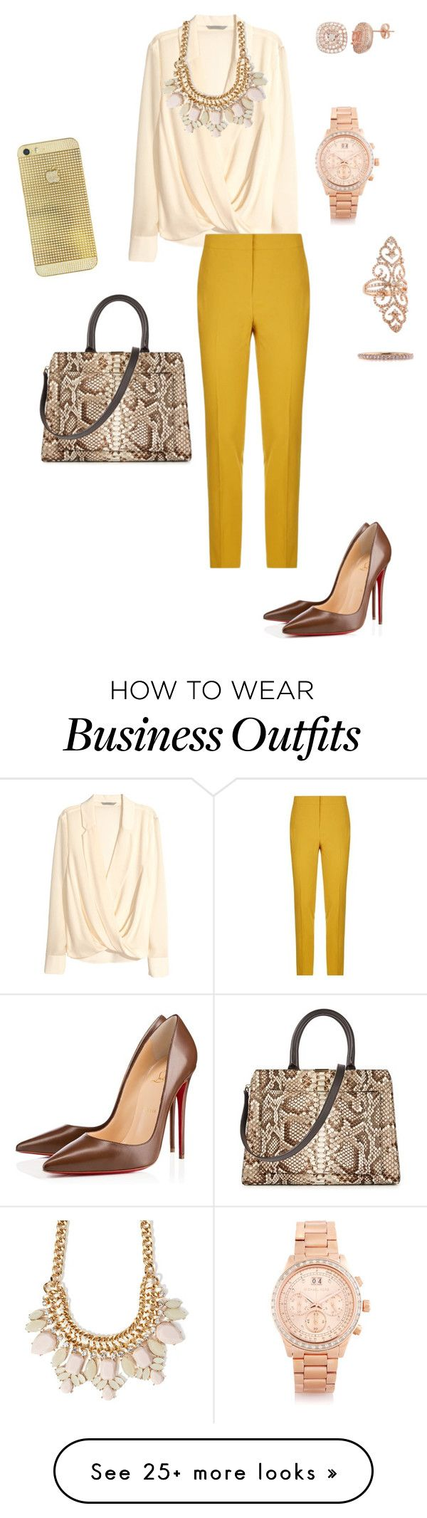 """""""Work Wear 3"""" by jerbee04 on Polyvore featuring H&M, Pinko, Forever 21, Christian Louboutin, Victoria Beckham, Michael Kors and Mark Broumand"""