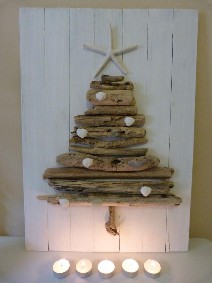 coastal christmas@Julie R start collecting driftwood.. how cute!