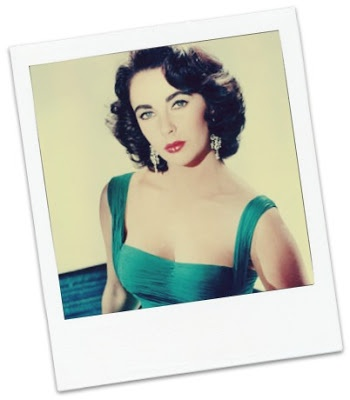 Elizabeth Taylor in emerald green