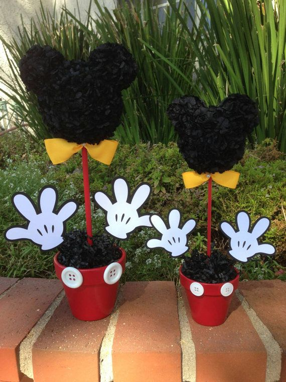Mickey Mouse centro de mesa decoraciones fiesta por MyCraftySides                                                                                                                                                                                 Más