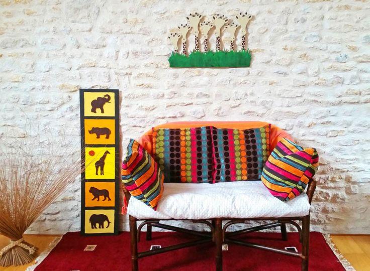 Loisirs créatifs décoration tendance africaine la savane et ses couleurs 🌴🐘🐯girafe