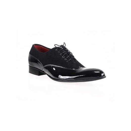 Čierné lesklé lakovky talianská obuv Comodo E Sano - fashionday.eu