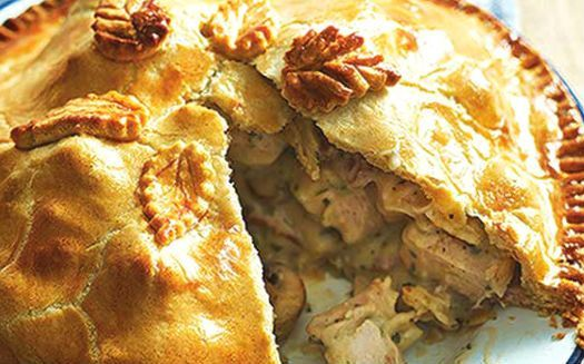 An english delicacy! Succulent and delicious...#Chicken #pie