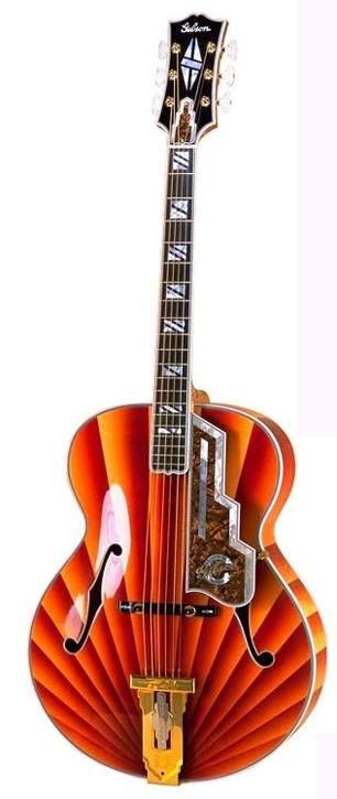 The Gibson Jazz Moderne 2000 in Orange Sunburst!