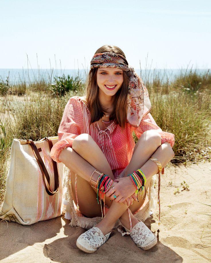 festival look _boho style _lace espadrilles _beach style