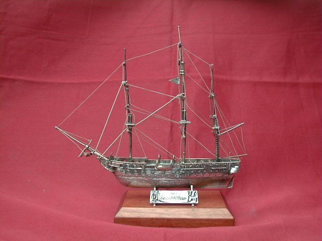 Ornament Ship in Silver Sailing ship model made ​​to order only 925 silver Dogale Jewellery venice Italy