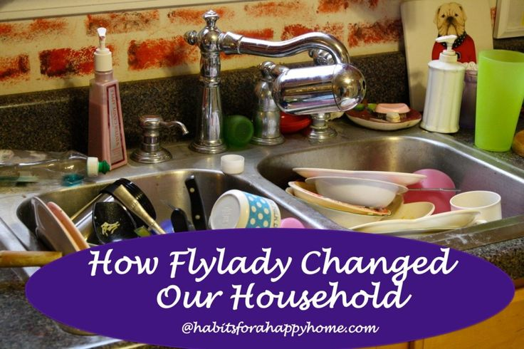 Tools Not Rules - How Flylady Changed Our Household @habitshappyhome