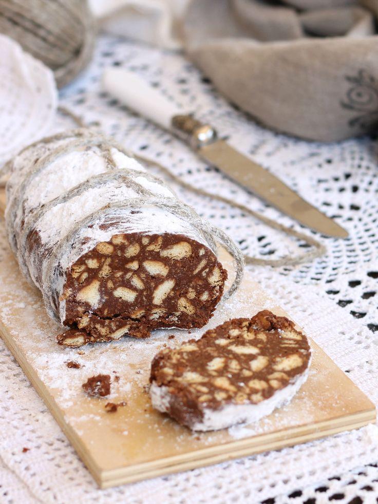 SALAME ALLA NUTELLA ricetta dolce estivo facile senza cottura