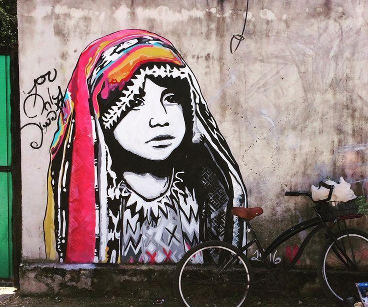 Beautiful Tulum Mural #tulummurals #aroundtown #bikeride #Tulum #tulumlife #tulumart