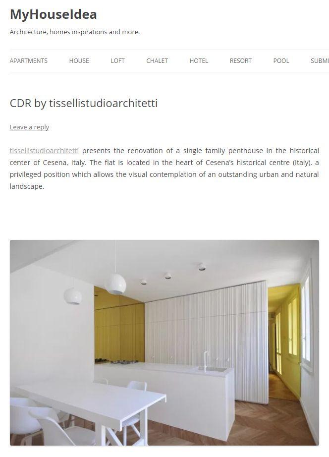 #tissellistudio single family penthouse in Cesena, published by MyHouseIdea