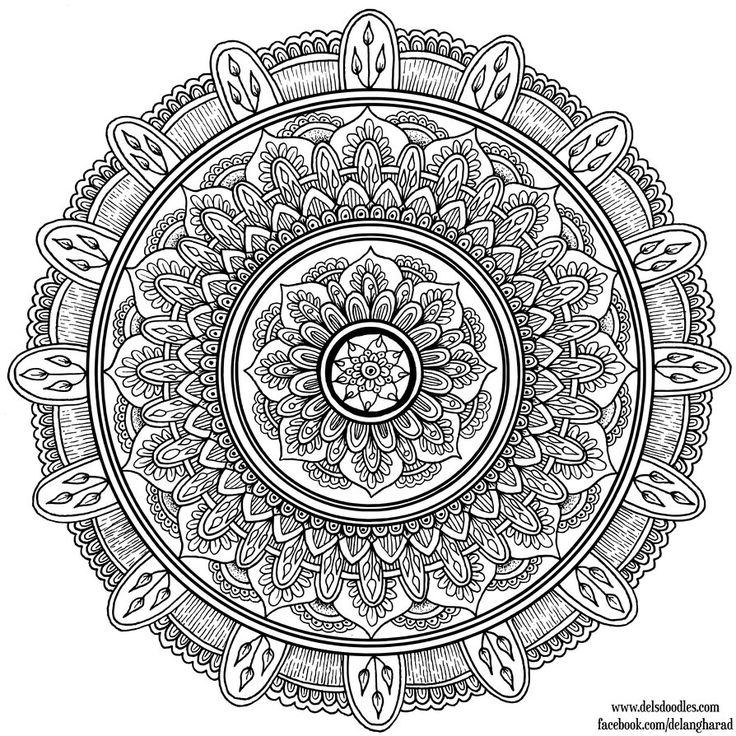 Lots of beautiful, free to print and color mandalas on this DeviantArt account…