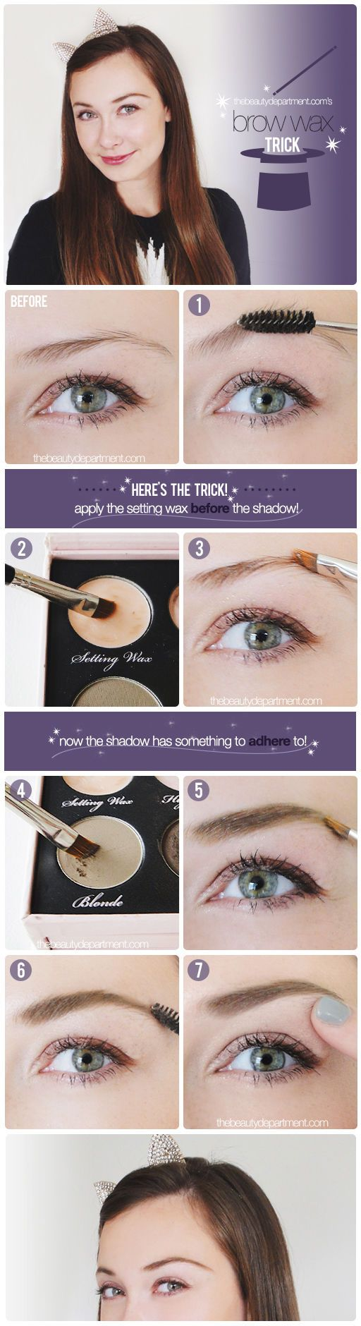 Tame your brows with this comprehensive how-to. #beauty #makeup #eyecare