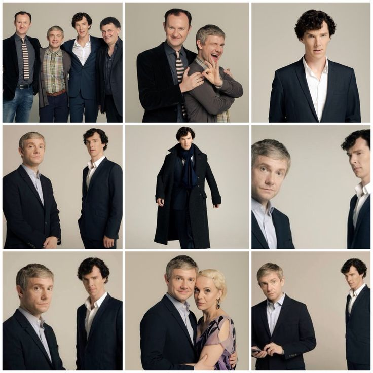 Sherlock Promo Photoshoot - shot by Robert Viglasky. My favorite is the top middle, with Martin (John) and Mark (Mycroft).