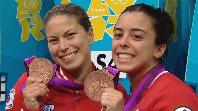 Day 4 (July 31st, 2012) - Bronze - Women's Synchronized Diving 10-Metre Platform - Meaghan Benfeito & Roseline Filion