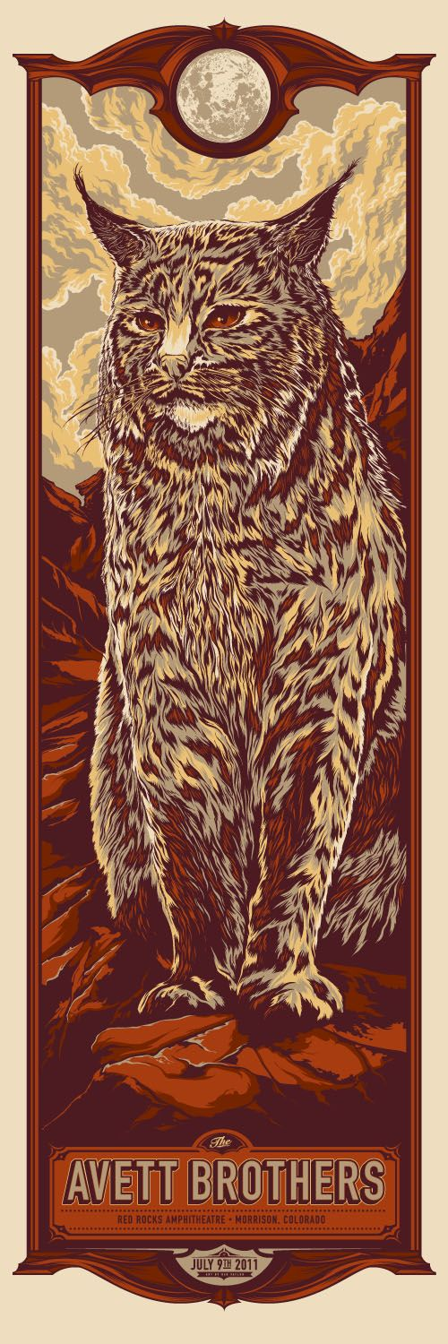 Avett Brothers concert poster by Ken Taylor