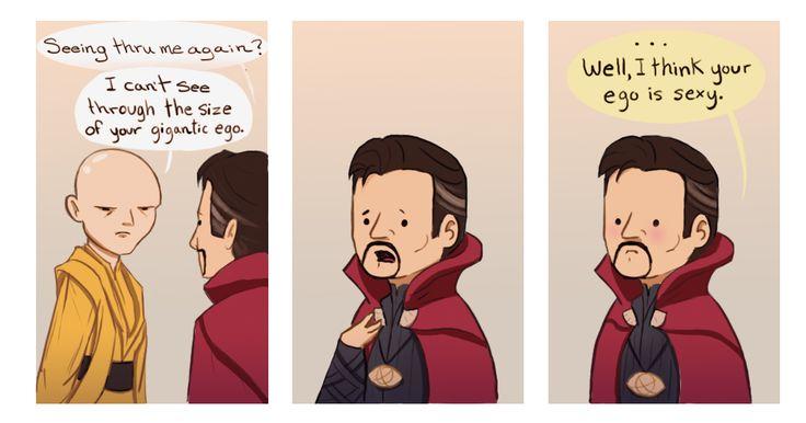 doctor strange cloak comic strip joke ( and the ancient one )