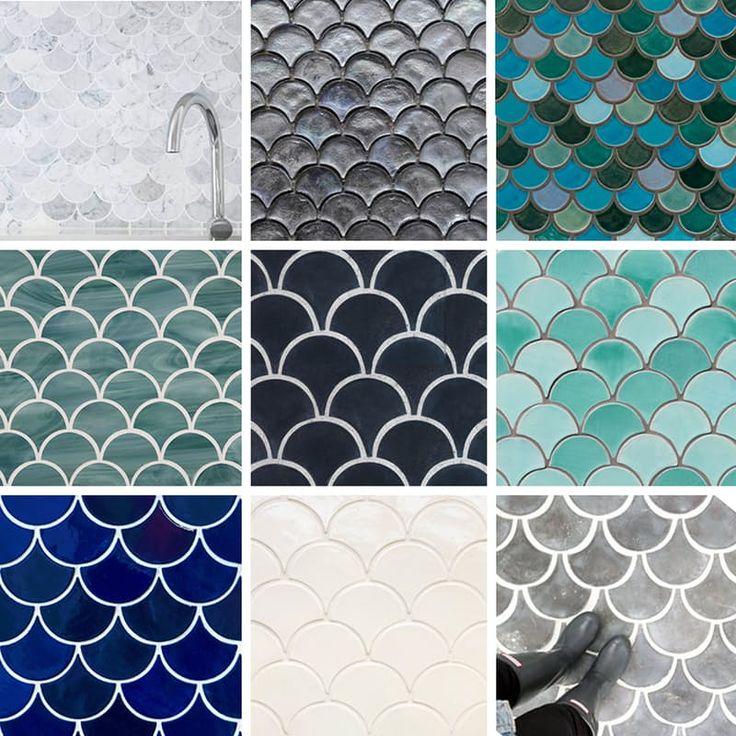 Le Piastrelle a squame di pesce (anche conosciute come piastrelle ventilatore o piastrelle a pettine) in questo periodo una delle nostre forme preferite, così abbiamo raccolto un elenco di fonti per queste bellezze. Se siete alla ricerca di piastrelle per il pavimento o le pareti, piastrelle di terra cotta o mattonelle di marmo o piastrelle di vetro o piastrelle di cemento, abbiamo qualcosa qui per voi.