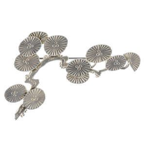 LOT:886 | WIWEN NILSSON - an early 1960s silver Japanese Pines brooch.