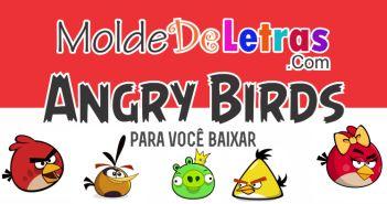 Molde de Letras Angry Birds