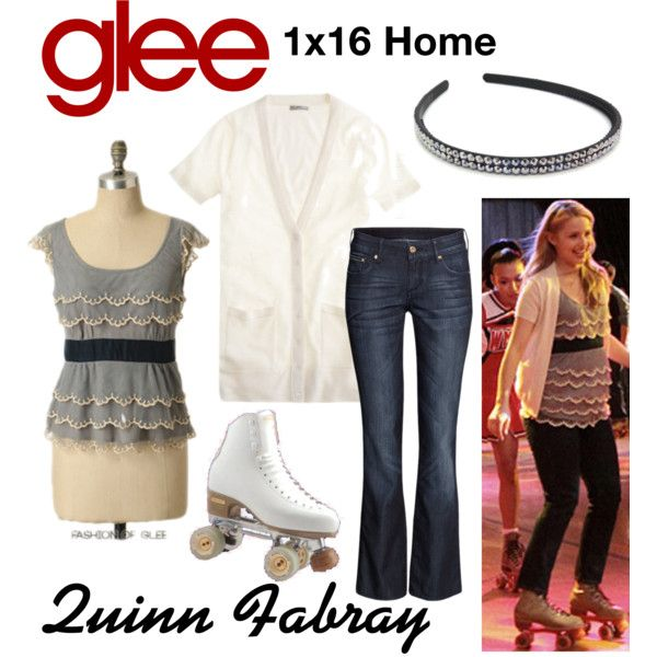 Quinn Fabray (Glee) : 1x16 by aure26 on Polyvore featuring mode, H&M and glee
