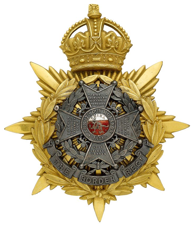 British; The Border Regiment, Officer's Helmet Plate, 1905-14.(Formed from 34th & 55th Regiments of Foot)