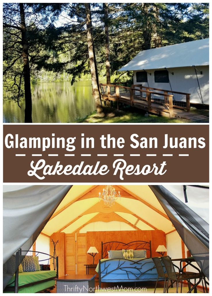 Glamping in the San Juans in Washington at Lakedale Resort, a resort families will love