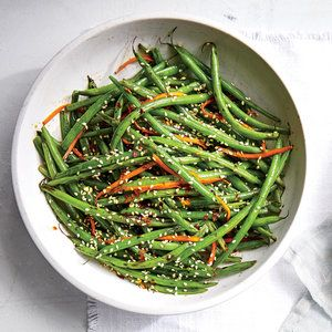 Haricots Verts with Carrots and Sesame Recipe   MyRecipes.com Mobile