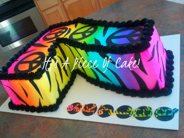 Pin Zebra Peace Sign Cakes Cake Picture To Pinterest On