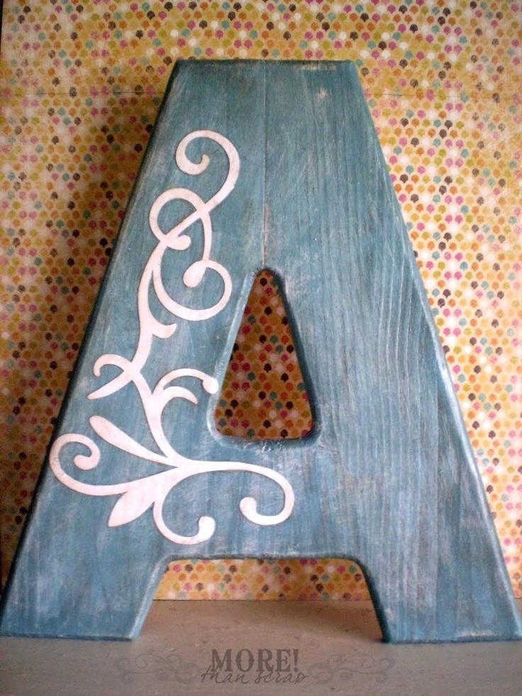wooden A with vinyl treatment