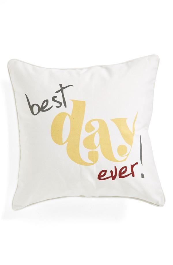 u0027best day everu0027 pillow wedding gift
