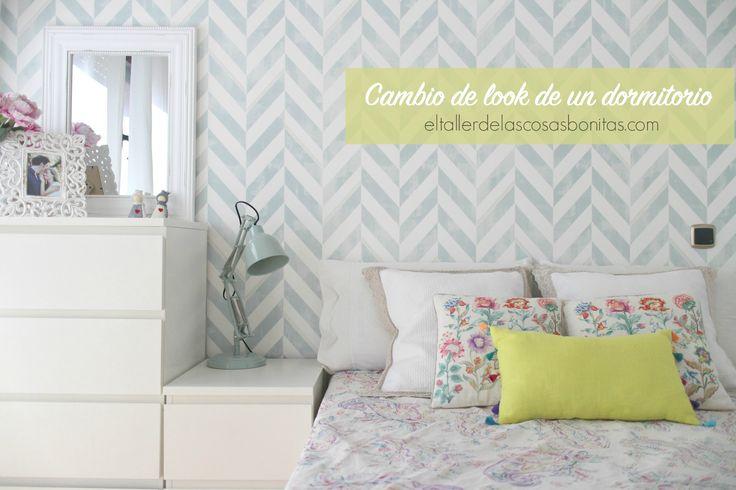 Cómo decorar una habitación de matrimonio con papel pintado | el taller de las cosas bonitas