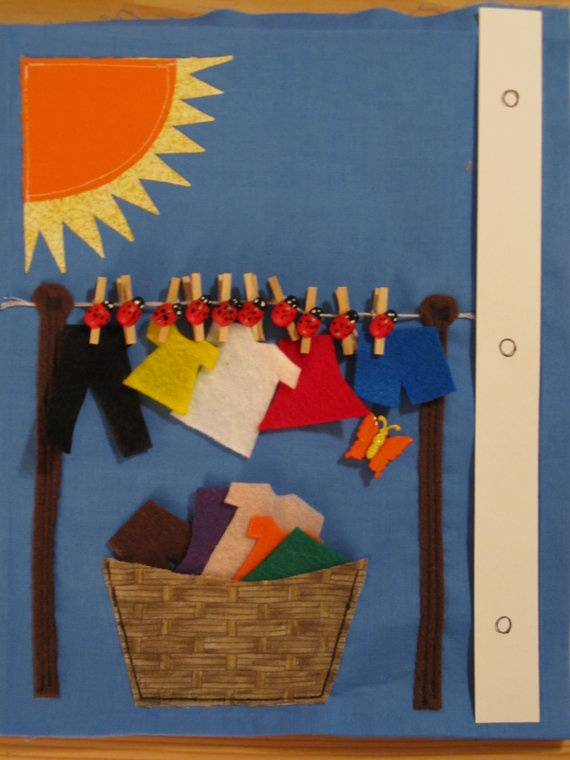quiet book - hang the washing