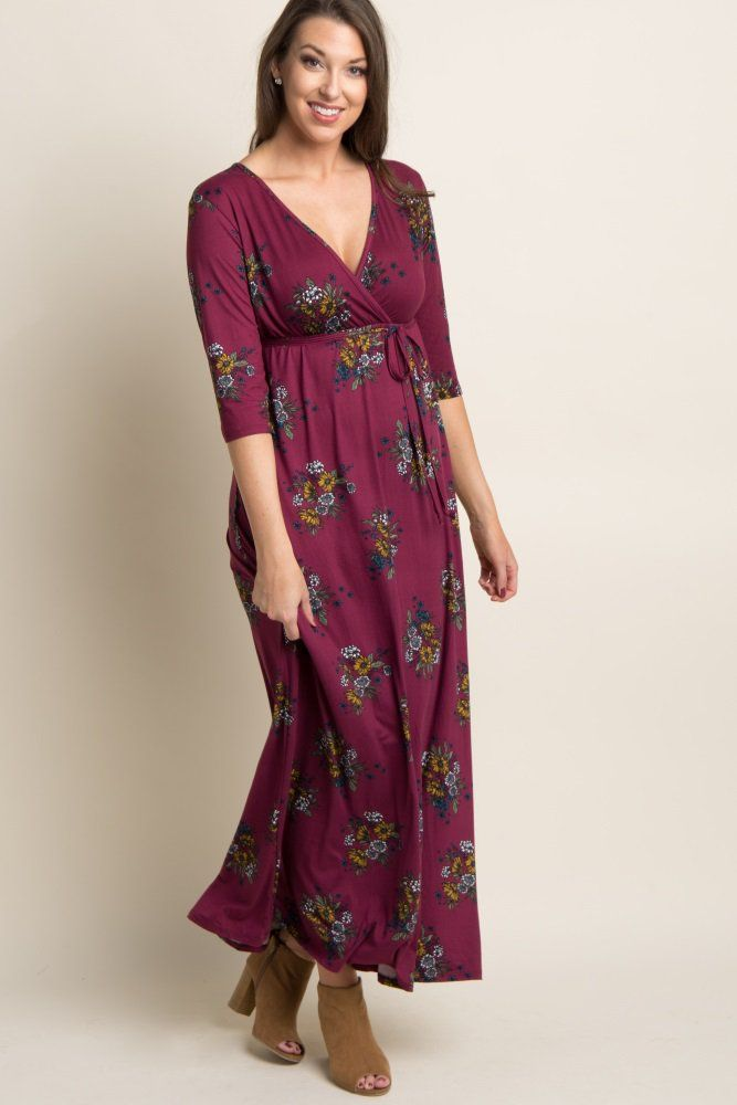 44b699b226 You'll look gorgeous in this dress this season! Featuring a bold print, sash  tie and gorgeous hue, this flattering wrap maxi style will give you a look  you ...