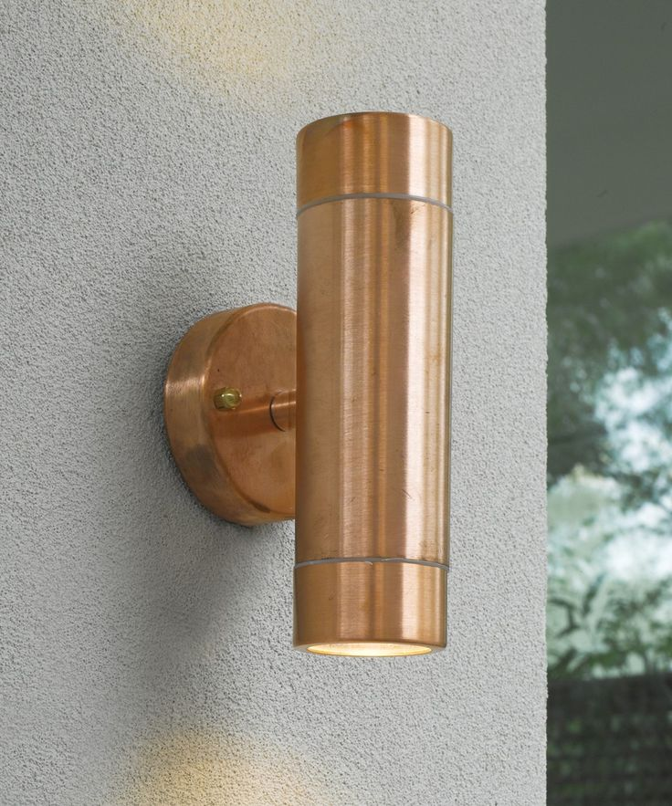 Beacon Lighting Harbour 240v 2 Light Up Down Wall Bracket In Copper