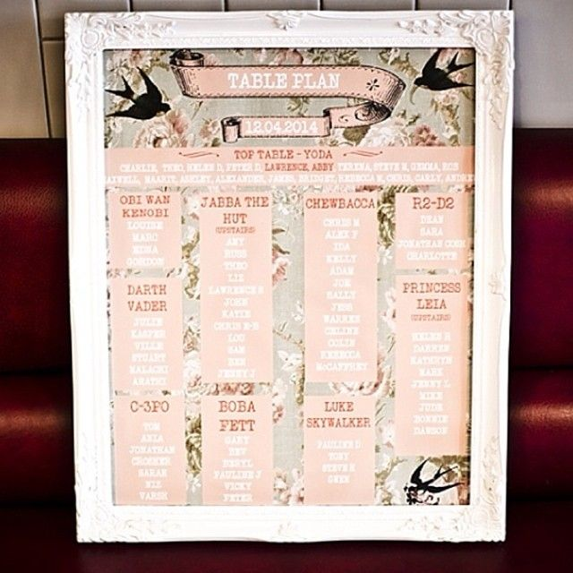 This Is How To Combine Star Wars And Vintage Chic In A Wedding Table Plan