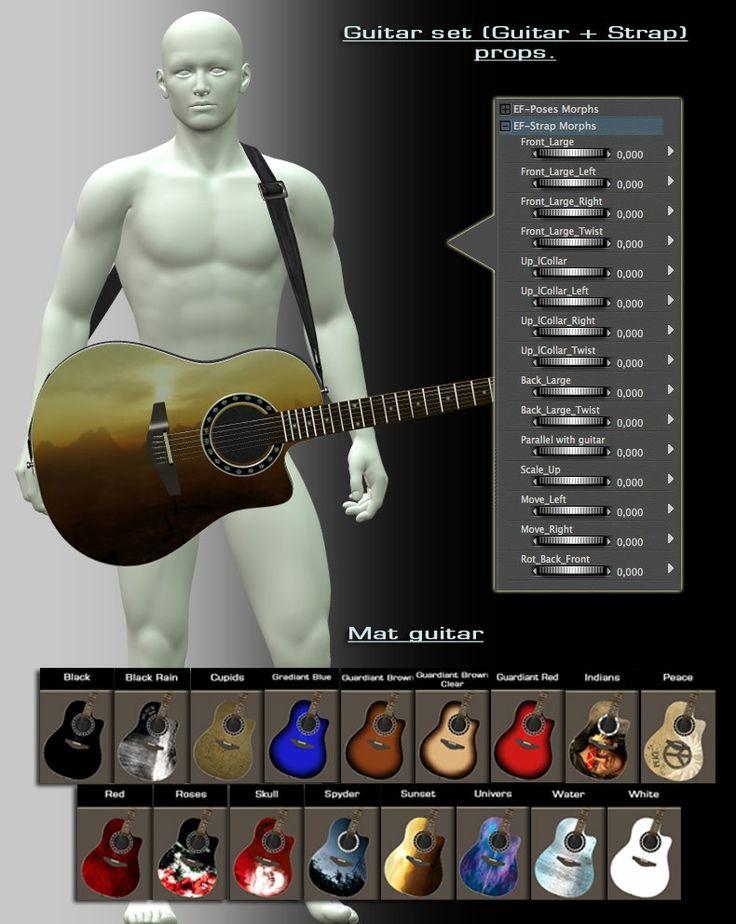 EF-Acoustic Guitar | 3D Models and 3D Software by Daz 3D