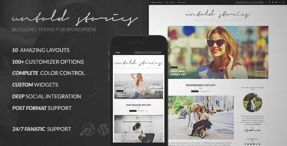 Download and review of Fashion Blog Theme - Untold Stories, one of the best Themeforest Magazine & Blogs themes {Download & review at Review and download at} { -> }http://best-wordpress-theme.net/fashion-untold-stories-download-review/