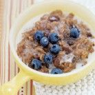 Vegan Overnight Steel Cut Oats - combine raw ingredients at night, seal in jar, place in fridge, and it's ready in the morning!